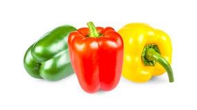 Peperoni verdi, rossi e gialli Fotografie Stock