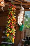 Pepervlecht, organische groenten Stock Foto's