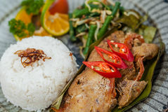 Pepes Traditional Indonesian food. Stock Image