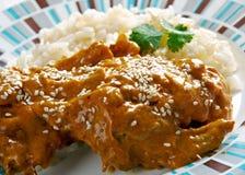 Pepian Sauce for Stewed Chicken Stock Photos