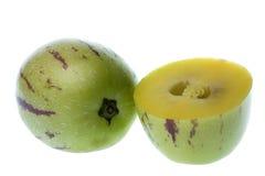 Pepino Dulce (Melone-Birnen) getrennt Lizenzfreies Stockfoto