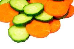 Pepino e cenoura Foto de Stock
