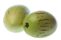 Pepino Geïsoleerdeo Dulce (de Peren van de Meloen) Stock Foto's