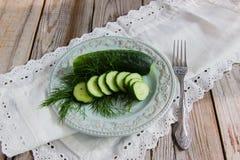 Pepino salado tradicional ruso Imagen de archivo libre de regalías