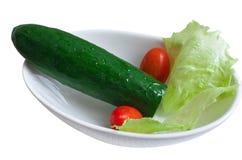 Pepino, tomate, col roja Foto de archivo libre de regalías