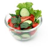 Pepino y ensalada de los tomates Fotos de archivo libres de regalías