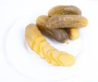 Pepinos conservados en vinagre Fotografía de archivo