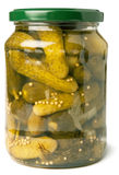 Pepinos no frasco de vidro Fotografia de Stock Royalty Free