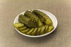 Pepinos salados Foto de archivo