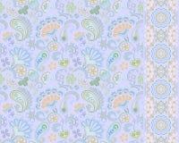 Pepinos turcos Adorno oriental Ornamento y frontera inconsútiles para las telas, papel pintado, fondo Ilustración del vector Fotografía de archivo libre de regalías