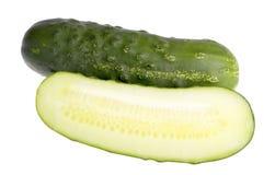 Pepinos verdes imagenes de archivo