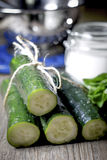 Pepinos verdes Imagem de Stock Royalty Free