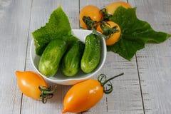Pepinos verdes frescos Foto de Stock