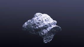 Pepita d'argento gigante Immagini Stock
