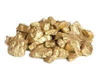 Pepita de ouro Fotografia de Stock