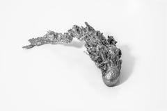 Pepita de un Metall solidificado en blanco y negro Fotografía de archivo libre de regalías