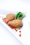 Pepitas de galinha fritada Imagem de Stock