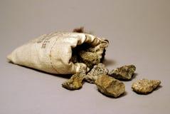Pepitas de oro Imagenes de archivo