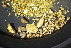 Pepitas de oro de California Imágenes de archivo libres de regalías
