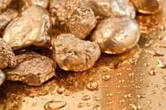 Pepitas de ouro Fotografia de Stock