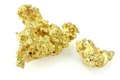 Pepitas de ouro foto de stock royalty free