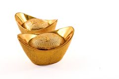 Pepitas de ouro chinesas Foto de Stock Royalty Free