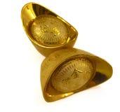 Pepitas de ouro chinesas Imagens de Stock