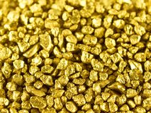 Pepitas de ouro macro Fotografia de Stock Royalty Free