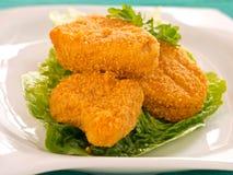 Pepitas de pollo Fotos de archivo