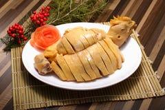 Pepitas de pollo cocinadas del chino tradicional Foto de archivo