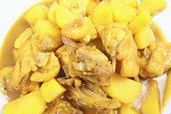 Pepitas de pollo del curry Imágenes de archivo libres de regalías