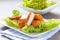 Pepitas de pollo frescas Fotografía de archivo libre de regalías