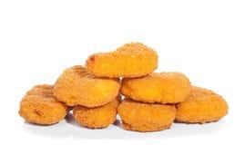 Pepitas de pollo frito fotografía de archivo