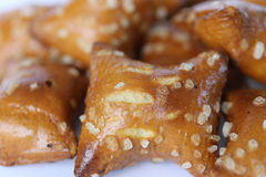 Pepitas do pretzel imagem de stock royalty free