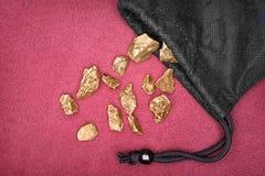 Pepite di oro Immagini Stock