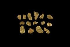 Pepite di oro dal Canada Immagini Stock Libere da Diritti