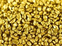 Pepite di oro a macroistruzione Fotografia Stock Libera da Diritti