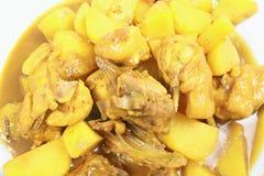 Pepite di pollo del curry Immagini Stock Libere da Diritti