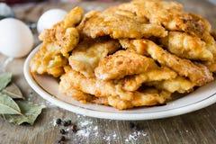 Pepite di pollo fritto immagine stock libera da diritti