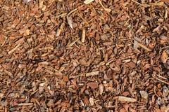 Pepite secche grezze della corteccia del pino ideali per la guarnizione del letto del giardino alla r Immagine Stock Libera da Diritti
