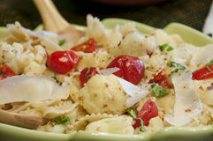 Peppadew pasta with cauliflower Stock Photo