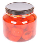 Pickled vegetables - peppadews Royalty Free Stock Image
