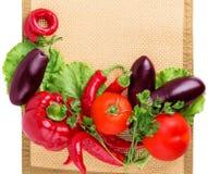 Peppar aubergine, varma peppar Arkivfoton