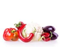 Peppar aubergine, varma peppar Arkivbilder