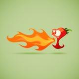 Peppar för mycket varm chili stock illustrationer