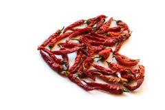 Peppar för röd chili som isoleras på en vit bakgrund Royaltyfri Bild