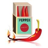 Peppar för röd chili som isoleras på vit bakgrund sunt organiskt för mat Royaltyfri Foto