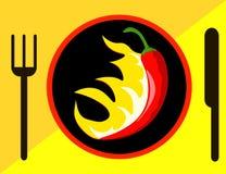 Peppar för varm chili med flammor Royaltyfria Foton