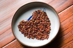 Peppar; Kinesisk röd peppar; Kinesisk taggig aska; peppertreepricklyash Fotografering för Bildbyråer