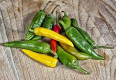Peppar och annan för röd chili pepprar Arkivfoto
